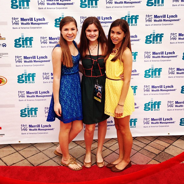 Kennedy Gonzalez, Riley Moran and Isabella Philipidis at the Gasparilla  International Film Festival Photo Credit: Sydney Burns