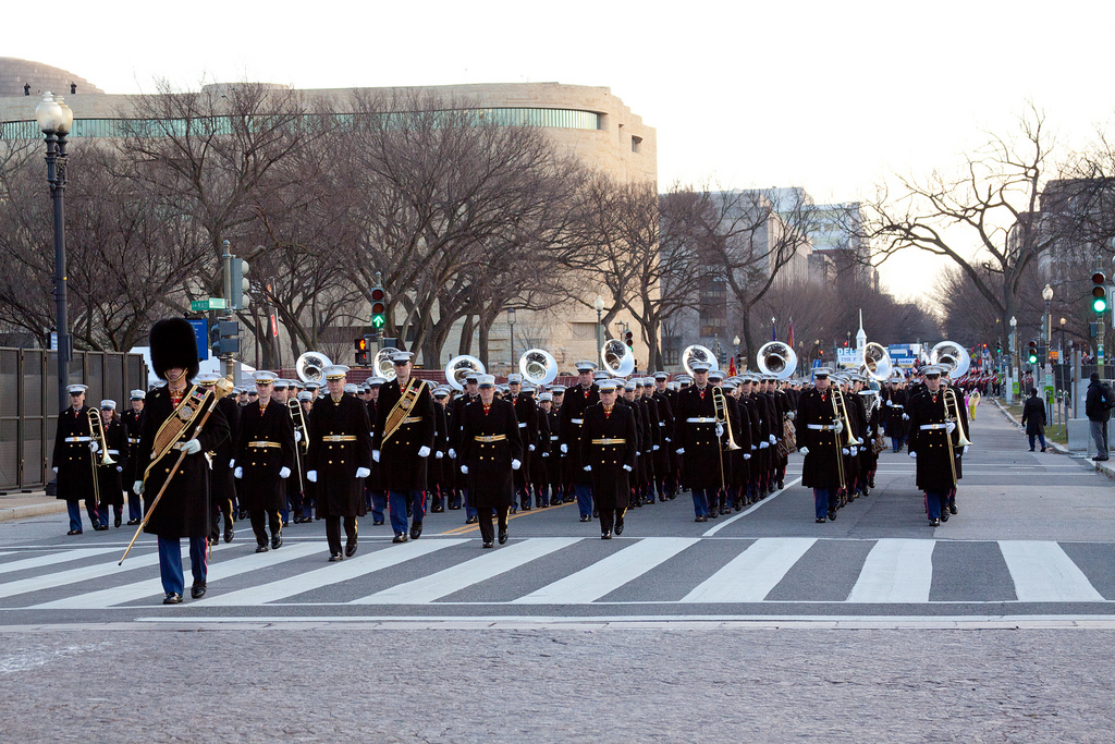 2013 Inaugural Parade Photo: Marine Band Public Affairs